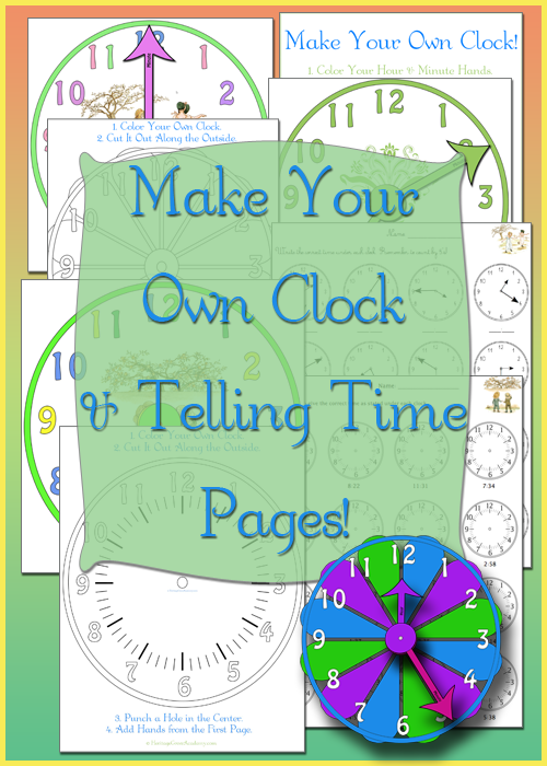 Make a Clock and Write the Time Math Pages for Homeschool