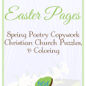 Easter - Spring Poetry Copywork and Puzzles