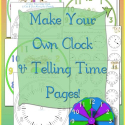 Make A Clock - Tell Time Book