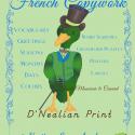 French Handwriting Copywork - D'Nealian Slant - Spiral Bound