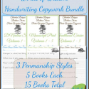 Burgess Words of Wisdom Handwriting Copywork - Complete Handwriting Bundle 15 Books