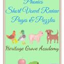Phonics Review Book – Short Vowels