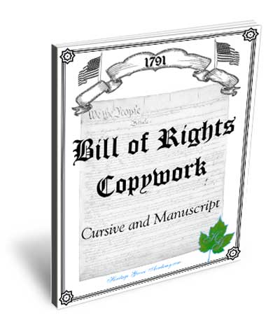 Bill of Rights Copywork