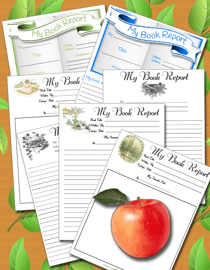 Homeschool Book Report Pages