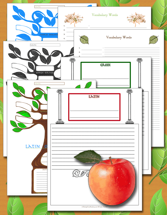 Homeschool Root Word Vocabulary Tree Words Latin Greek