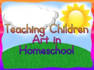 Teaching young children art in homeschool