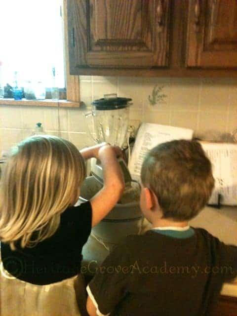 Helping Make a Cake