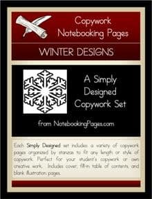 Winter Homeschool Notebooking Pages