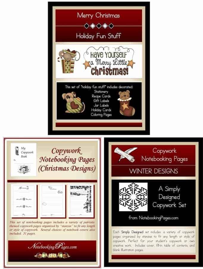 Homeschool Christmas Pages