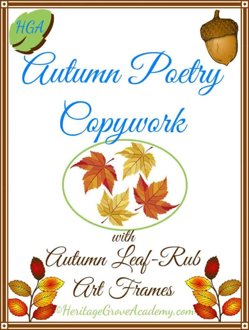 Fall - Autumn Poetry Copywork Pages