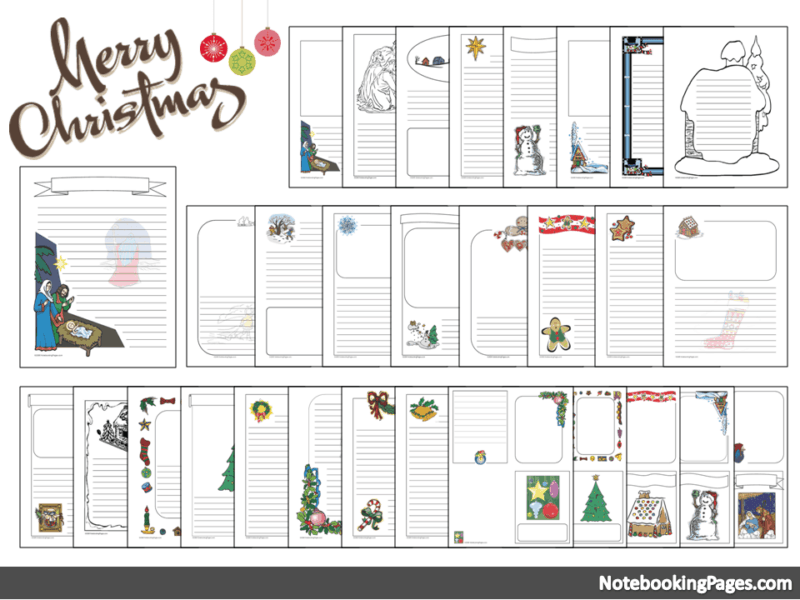 Homeschool Pages for Christmas hymns, writing, poetry - free!