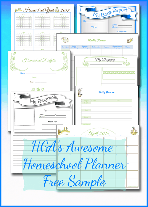 Free Homeschool Planner Pages, Forms, Calendars