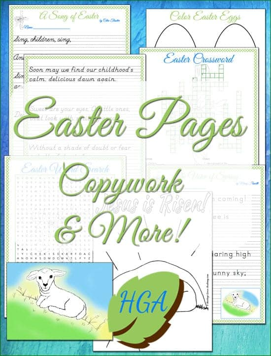 Easter Pages for Church and Homeschool