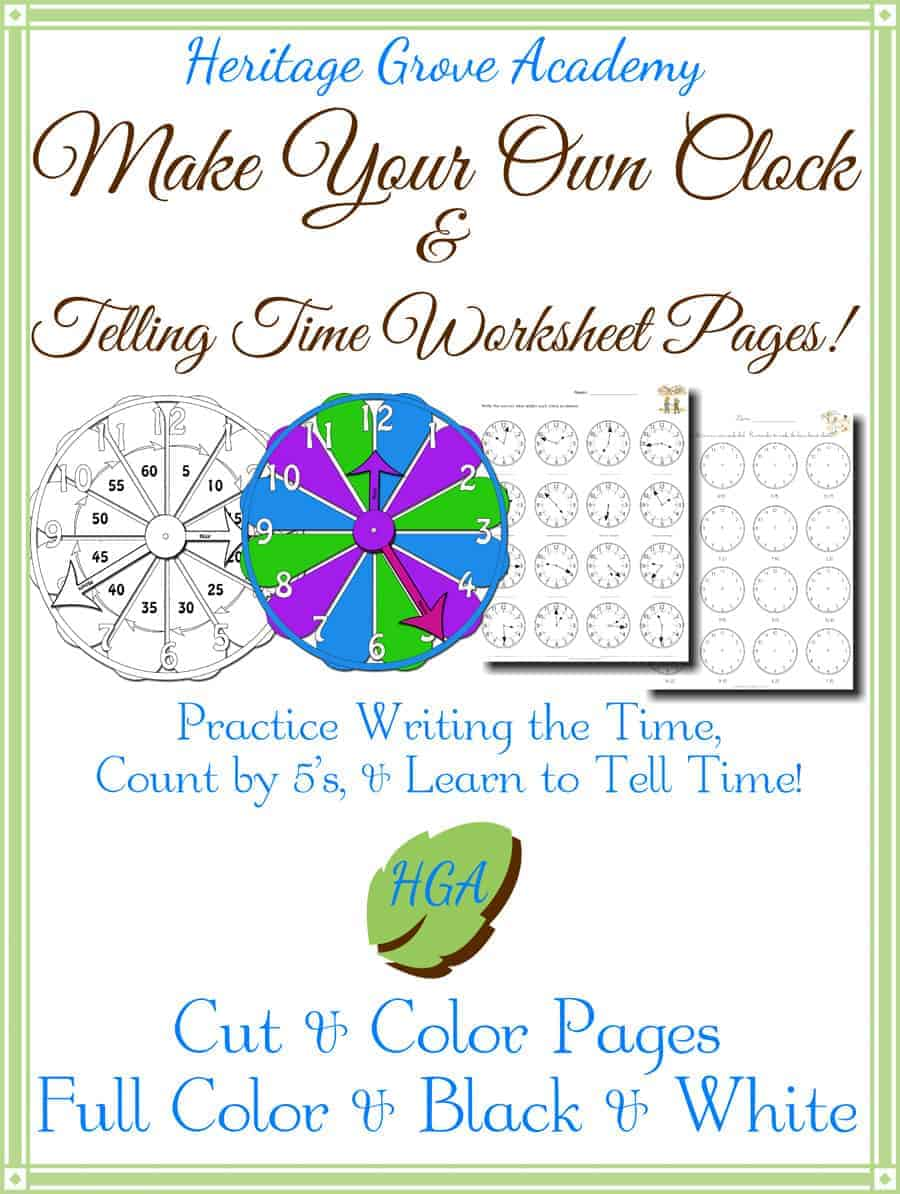Make Your Own Clock - Time Telling Worksheets
