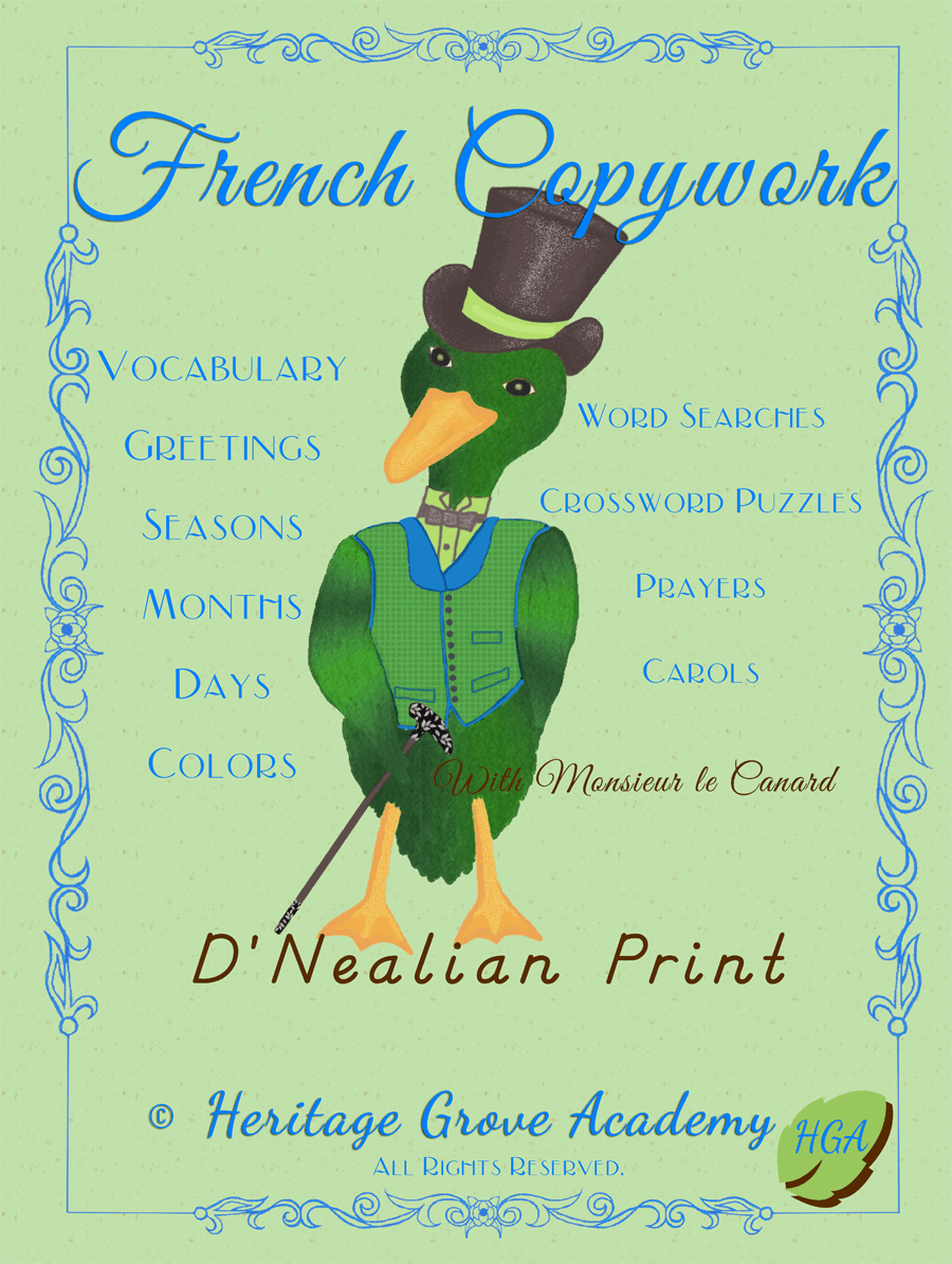French Copywork Pages