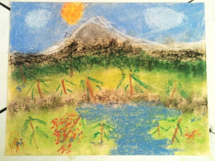 Mountain Study for Kids in Homeschool Art