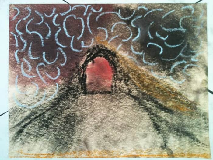 Studying Mount Doom in Homeschool Art - Science