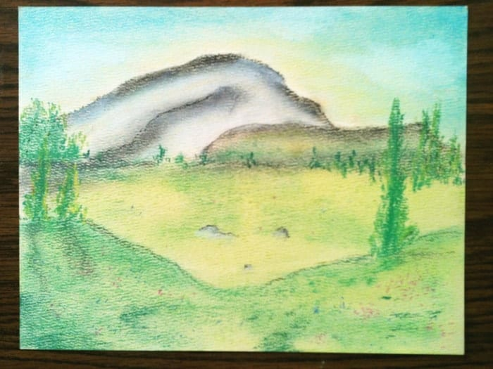 Art and Science in Homeschool - Pastel Mountain Study