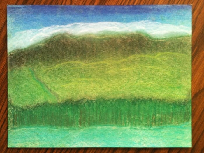 Homeschool Mountain Study for Art - Pastels