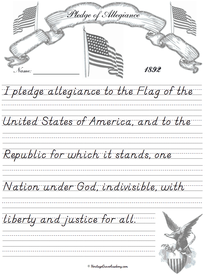 History Pledge United States Pages for Homeschool