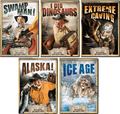 Dinosaurs, Alaska, Caving, Swamp, Ice Age Creation Science Adventure DVDs