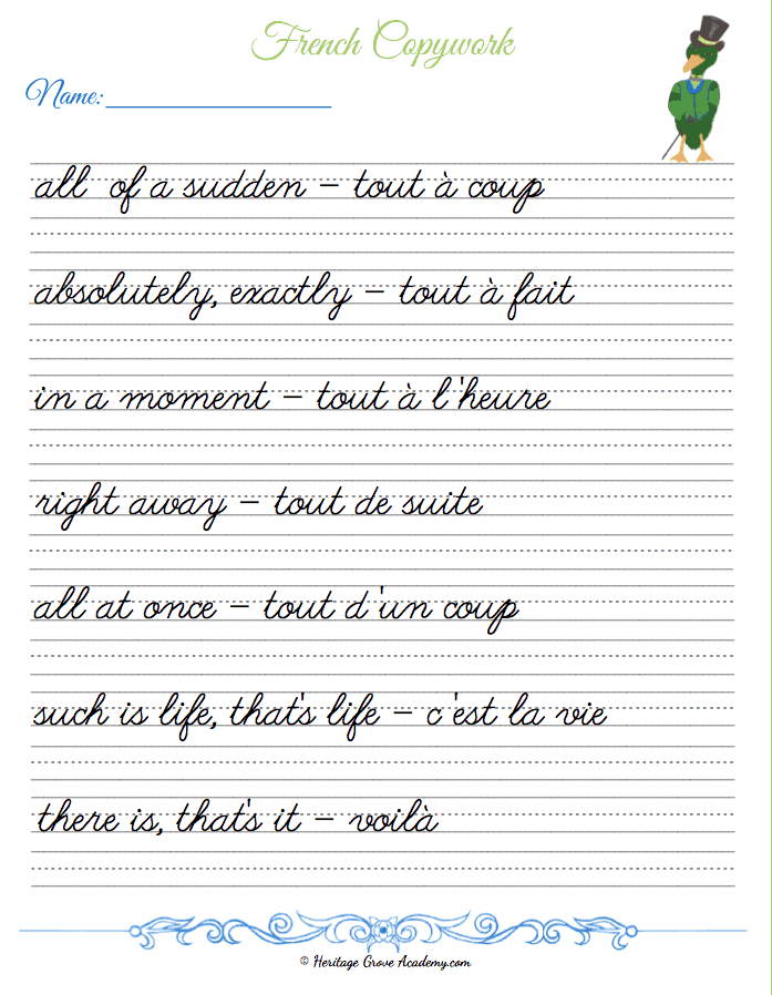 French Pages for Homeschool