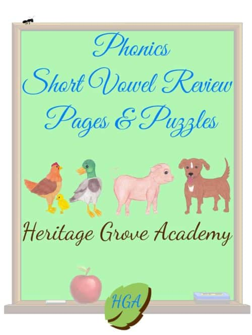 Phonics Review Book - Short Vowel Sounds
