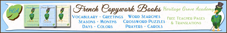 French Copywork Homeschool Handwriting Books