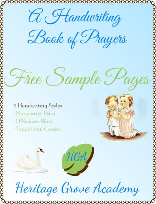 Free Prayers Handwriting Pages